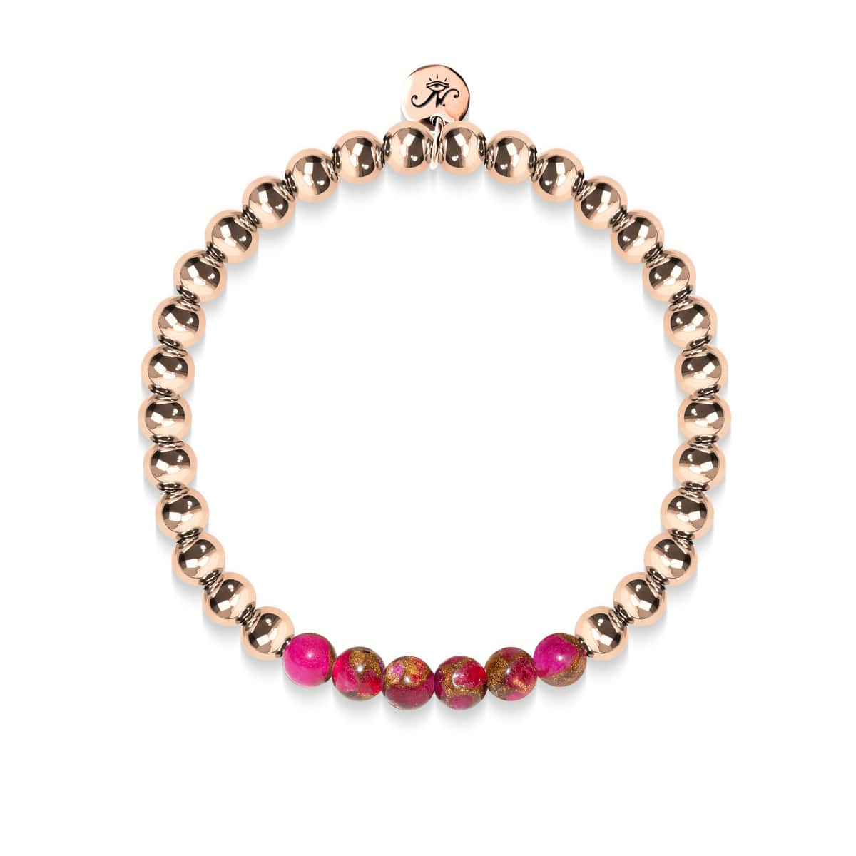 Inspired | 18k Rose Gold | New Red Agate | Gemstone Expression Bracelet