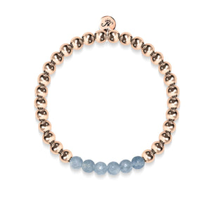 Appealing | 18k Rose Gold | Faceted Grey Jade | Gemstone Expression Bracelet