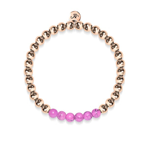 Blissful | 18k Rose Gold | Purple Turquoise | Gemstone Expression Bracelet