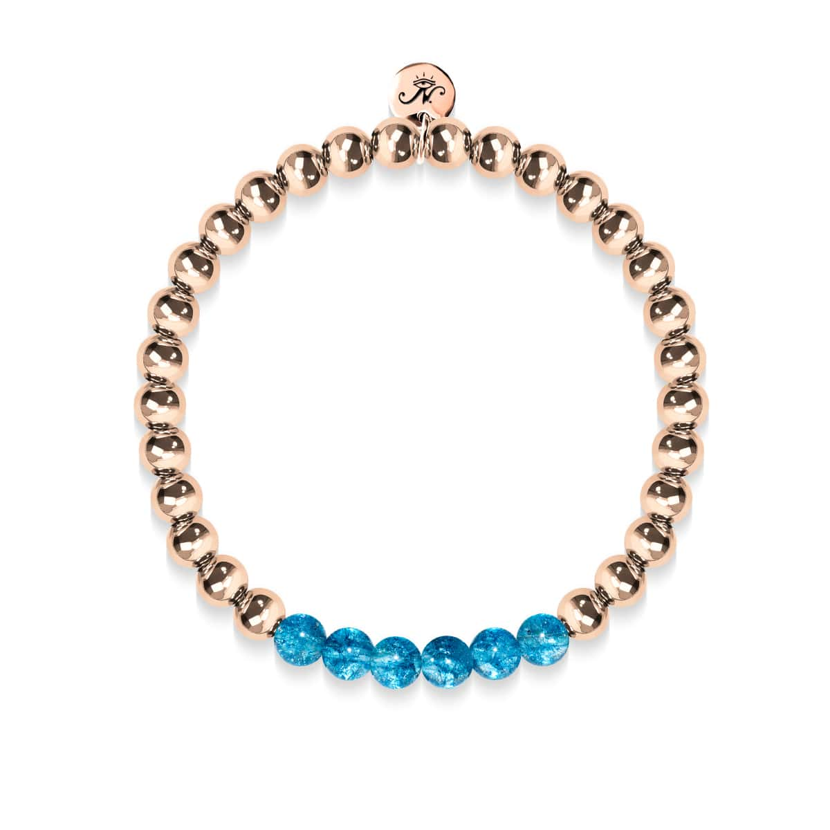 Delightful | 18k Rose Gold | Blue Crystal | Gemstone Expression Bracelet