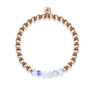Joyful | 18k Rose Gold | Porcelain Jade | Gemstone Expression Bracelet
