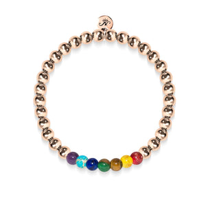 Chakra | 18k Rose Gold | Gemstone Expression Bracelet