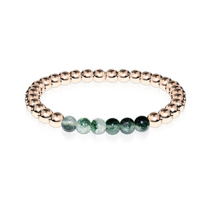 Grateful | 18k Rose Gold | Green Crystal | Expression Bracelet