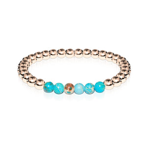 Awe | Or rose 18 carats | Océan Empereur Gemstone | Bracelet d'expression