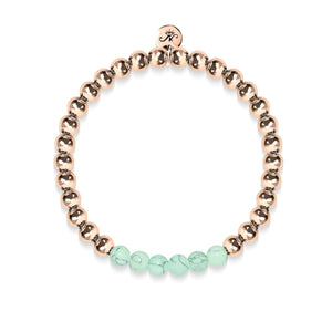 Proud | 18k Rose Gold | Green Turquoise | Gemstone Expression Bracelet