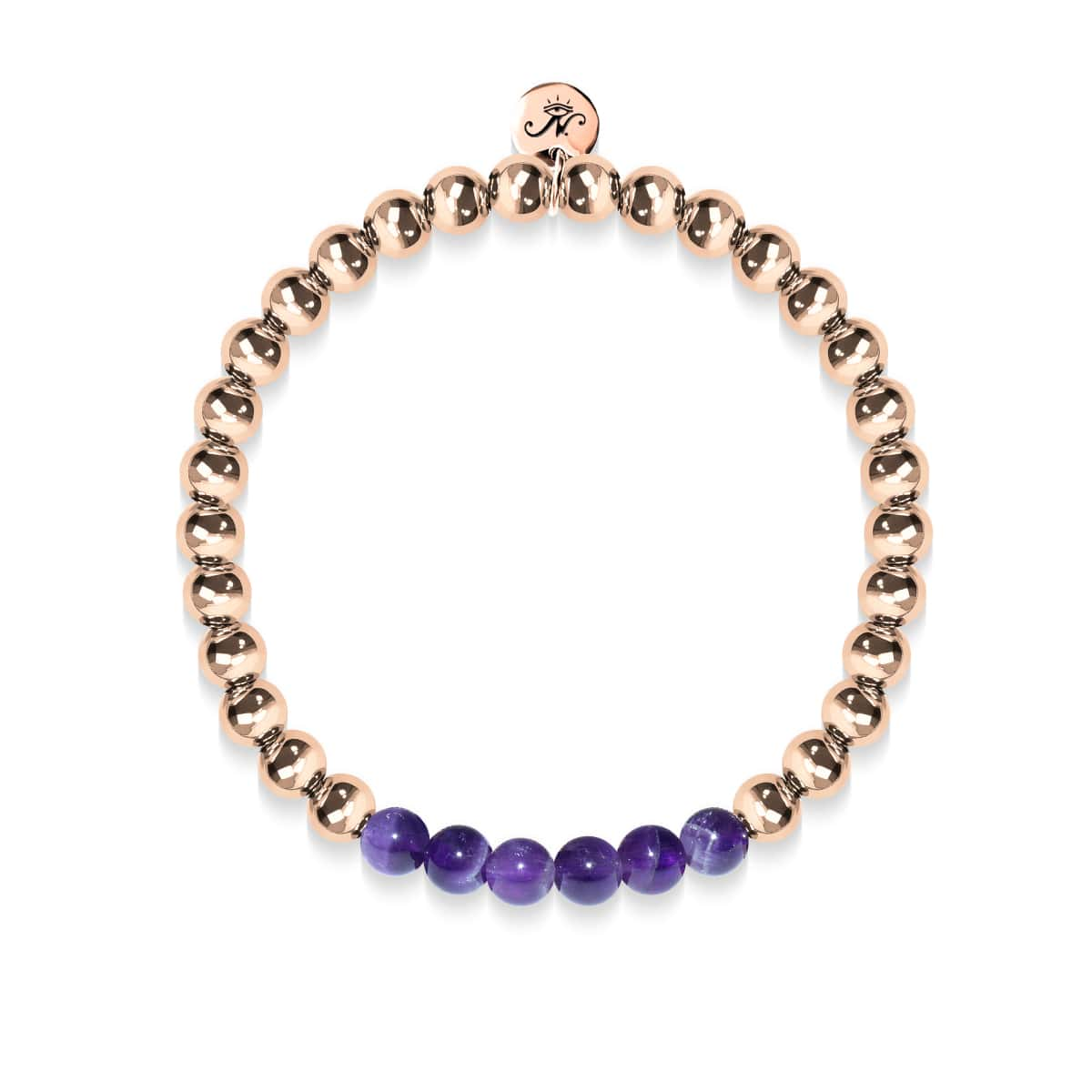 Admiration | 18k Rose Gold | Amethyst | Gemstone Expression Bracelet