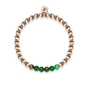 Dreamy | 18k Rose Gold | New Green Agate | Gemstone Expression Bracelet