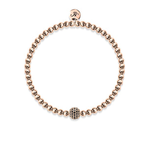 Charismatic | 18k Rose Gold | Black Cubic Zirconia Crystals | Expression Bracelet