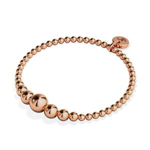 Enchanteur | Cascade en or rose 18 carats | Bracelet d'expression