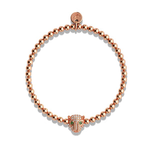 Fierce | 18k Rose Gold | Crystal Cat Bracelet