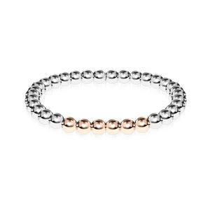 Wonder | Argent | Or rose 18 carats | Bracelet d'expression