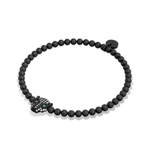 Fierce | Gunmetal | Crystal Cat Bracelet