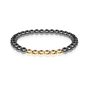 Glorious | Gunmetal | 18k Gold | Expression Bracelet