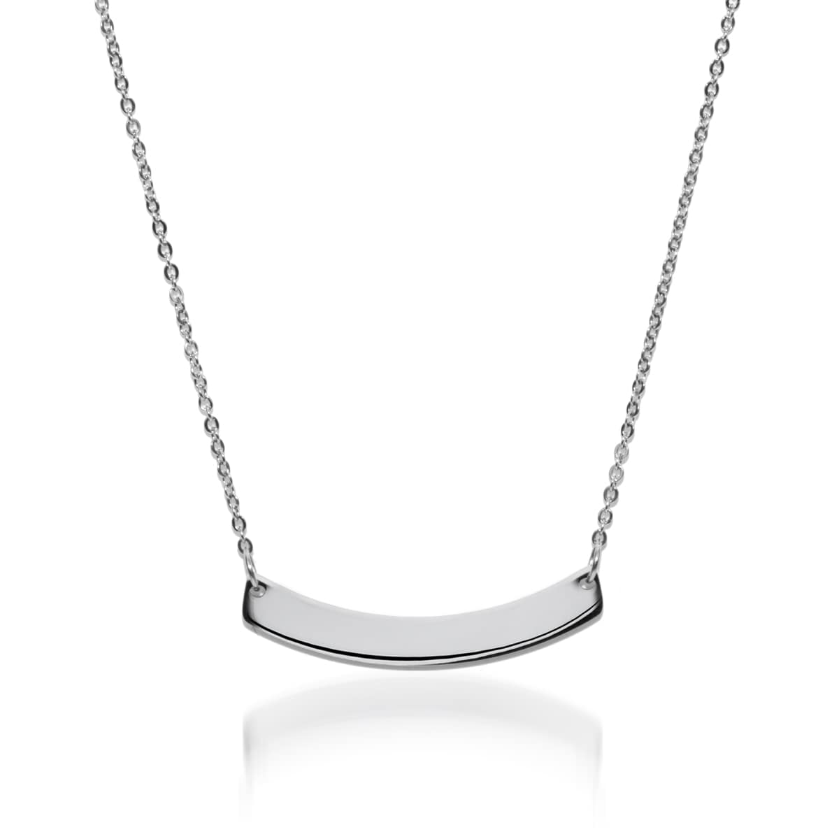 Curved Minimalist Bar | Silver | Necklace