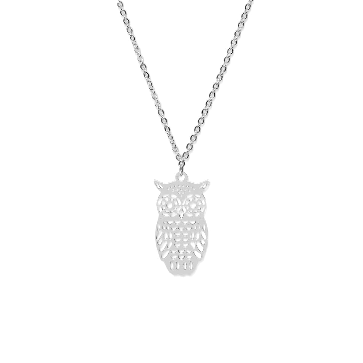 Owl | Silver | Charm Necklace