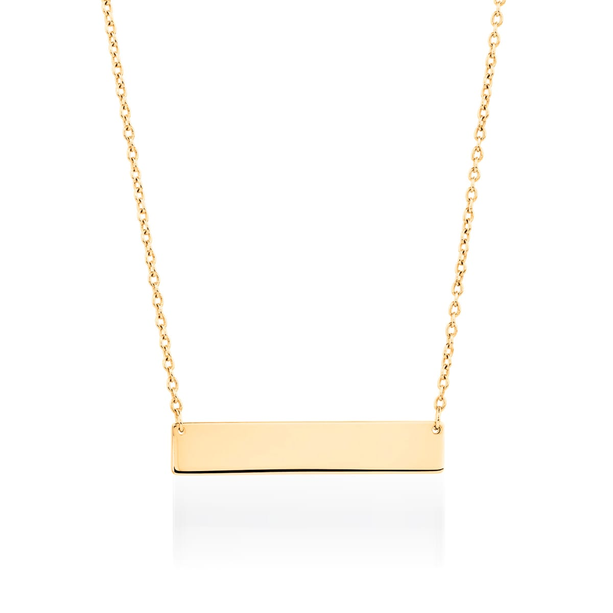 Bar minimaliste | Or 18 carats | Collier