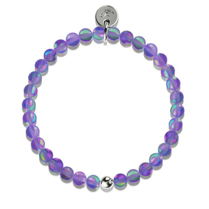 Violet |  .925 Sterling Silver | Mermaid Glass Bead Bracelet
