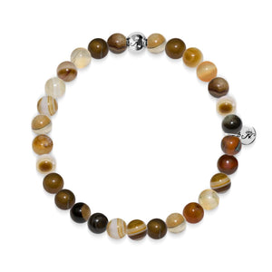 Intelligence | Silver Essence Gray Line Agate