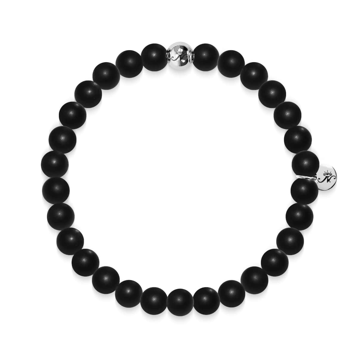 Growth | Silver Essence Matte Black Bracelet