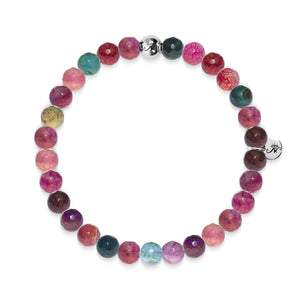 Joy | Silver Essence Multi-Colored Agate Bracelet