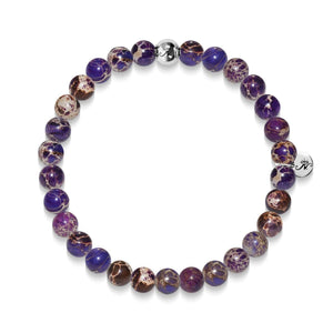Wisdom | Silver Essence Purple Regarte Bracelet