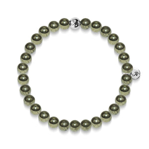 Wealth | Silver Essence Pyrite Bracelet