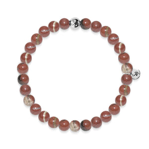 Focus | Silver Essence Red Veined Stone Bracelet