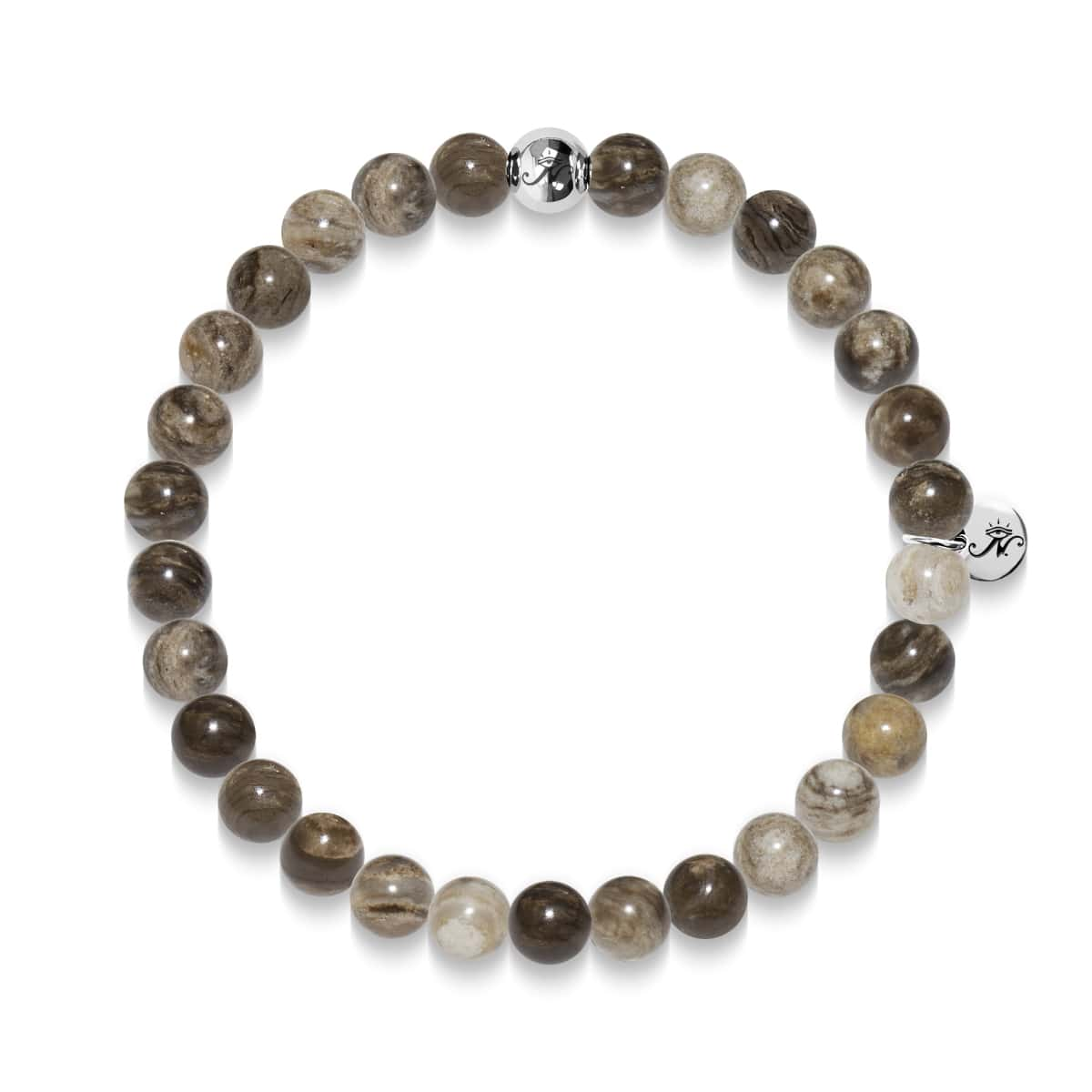 Will Power | Silver Essence Silver Leaf Jasper Bracelet