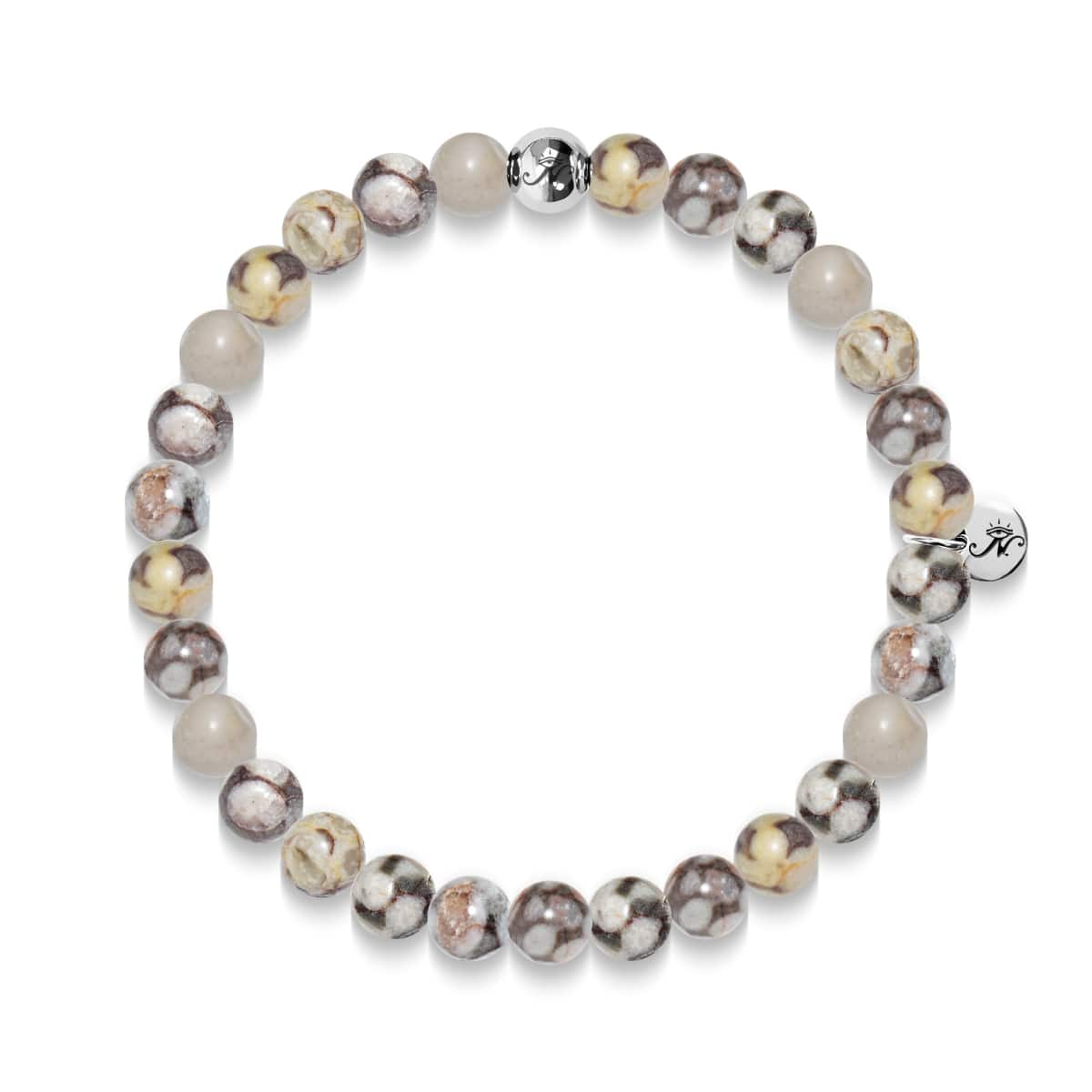 Security | Silver Essence Fossil Jasper Bracelet