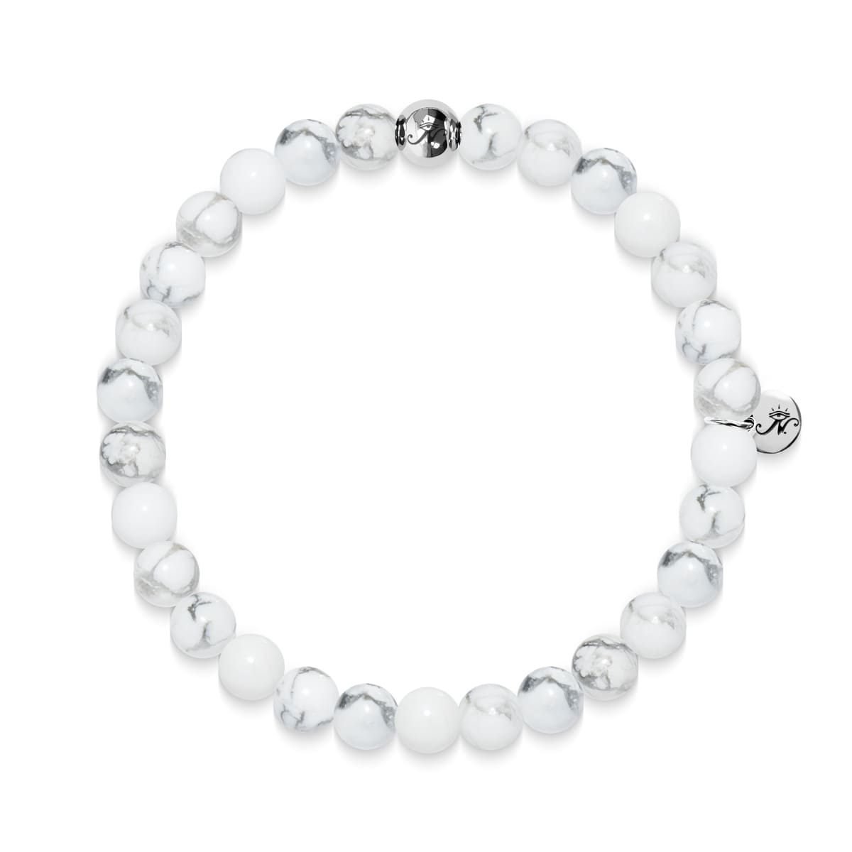 Exploration | Silver Essence White Turquoise Bracelet