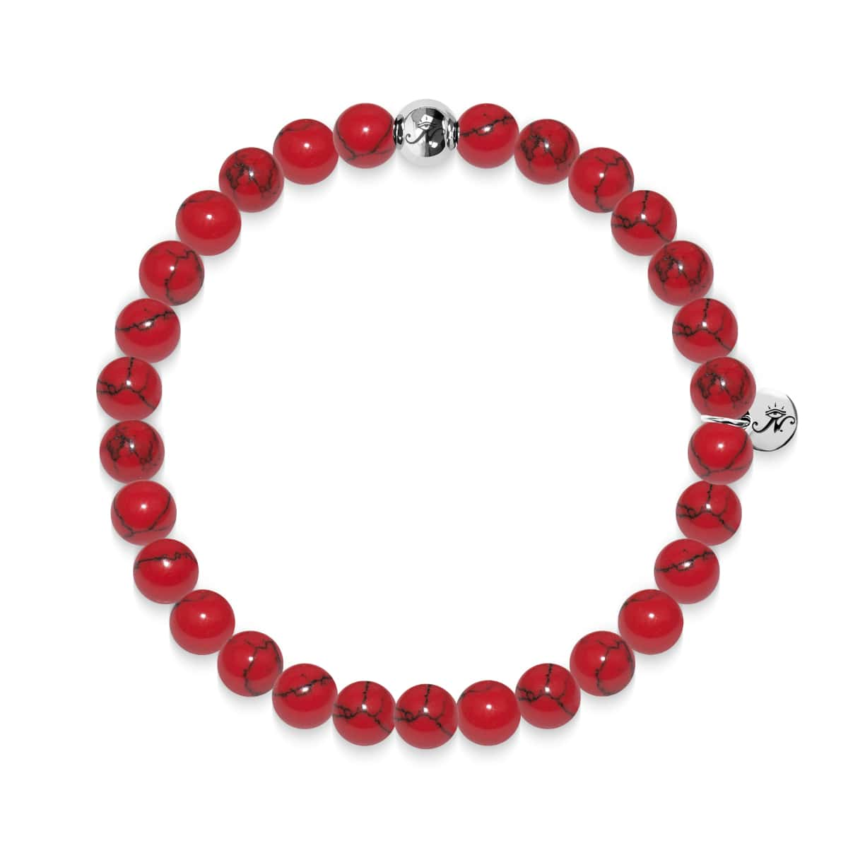 Protection | Silver Essence Red Turquoise Bracelet