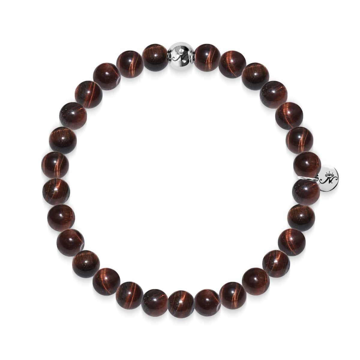 Noble | Silver Essence Red Tiger's Eye Bracelet