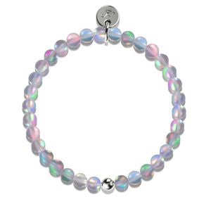 Grey | Silver | Mermaid Glass Bead Bracelet