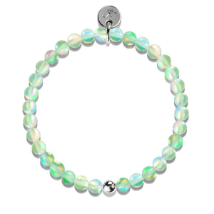 Emerald | .925 Sterling Silver | Mermaid Glass Bead Bracelet