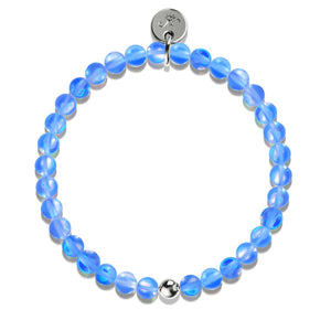 Sapphire |  .925 Sterling Silver | Mermaid Glass Bead Bracelet