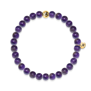 Leadership | Gold Essence Purple Amethyst Bracelet