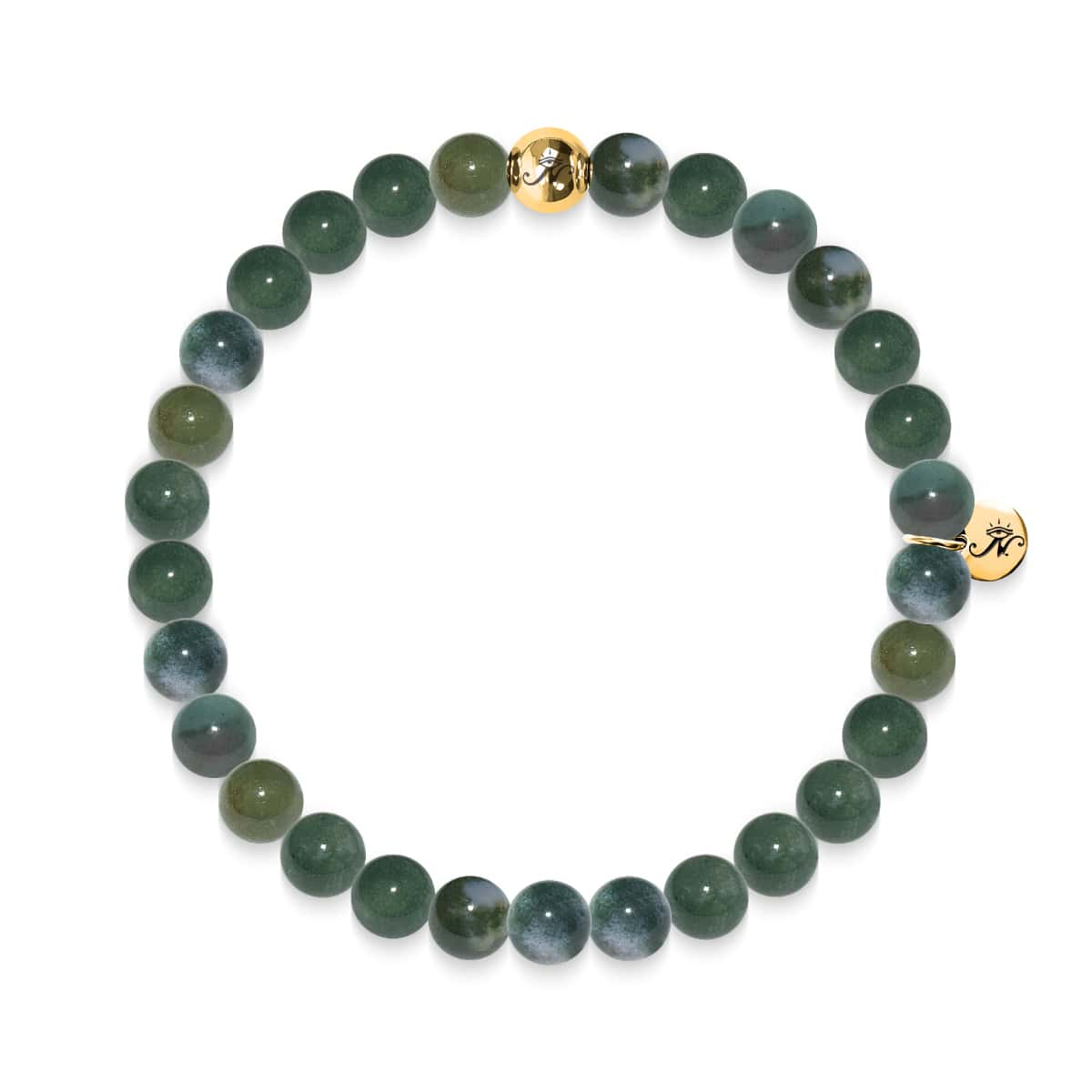 Songeur | Bracelet en jade canadien Gold Essence