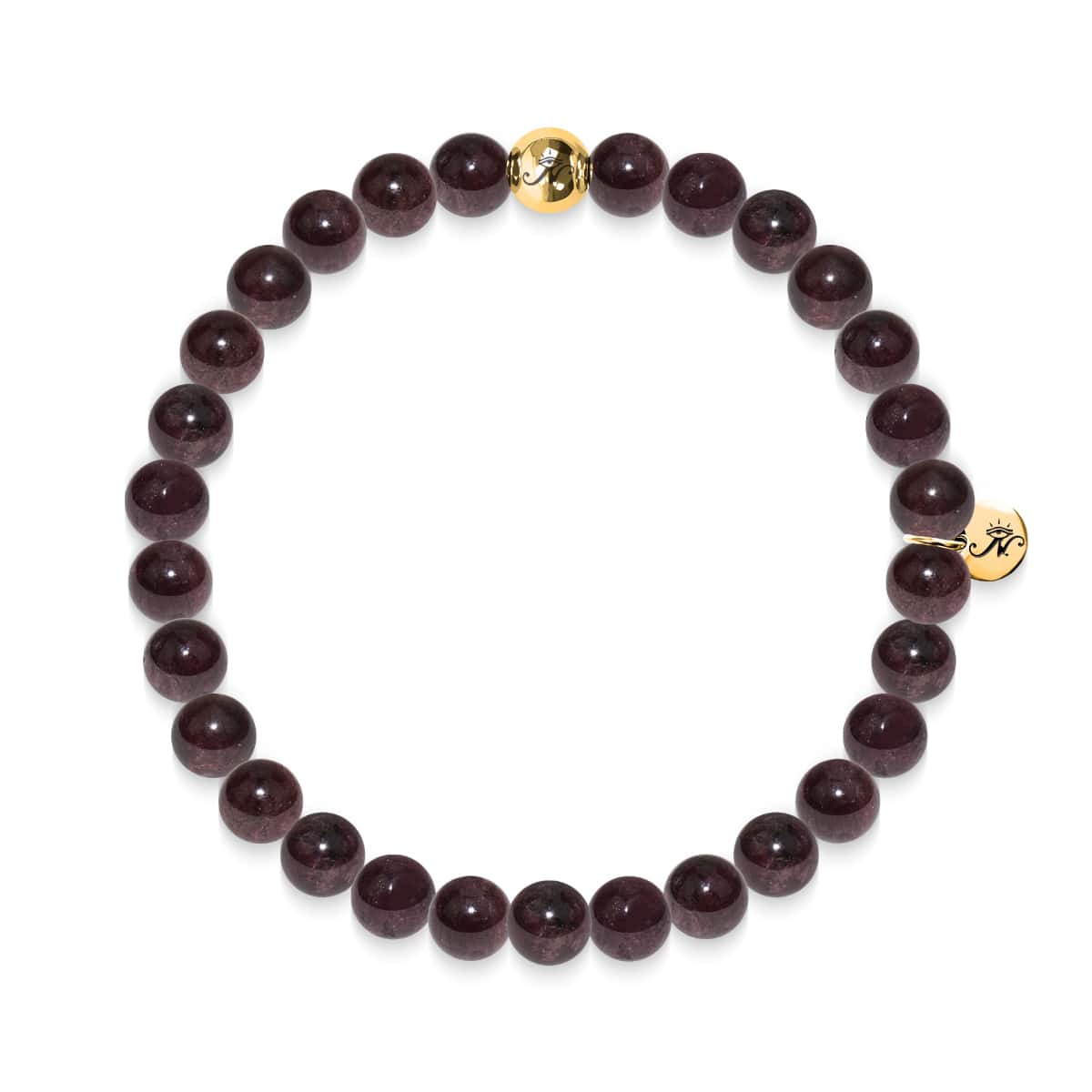 Vitality | Gold Essence Red Garnet Bracelet