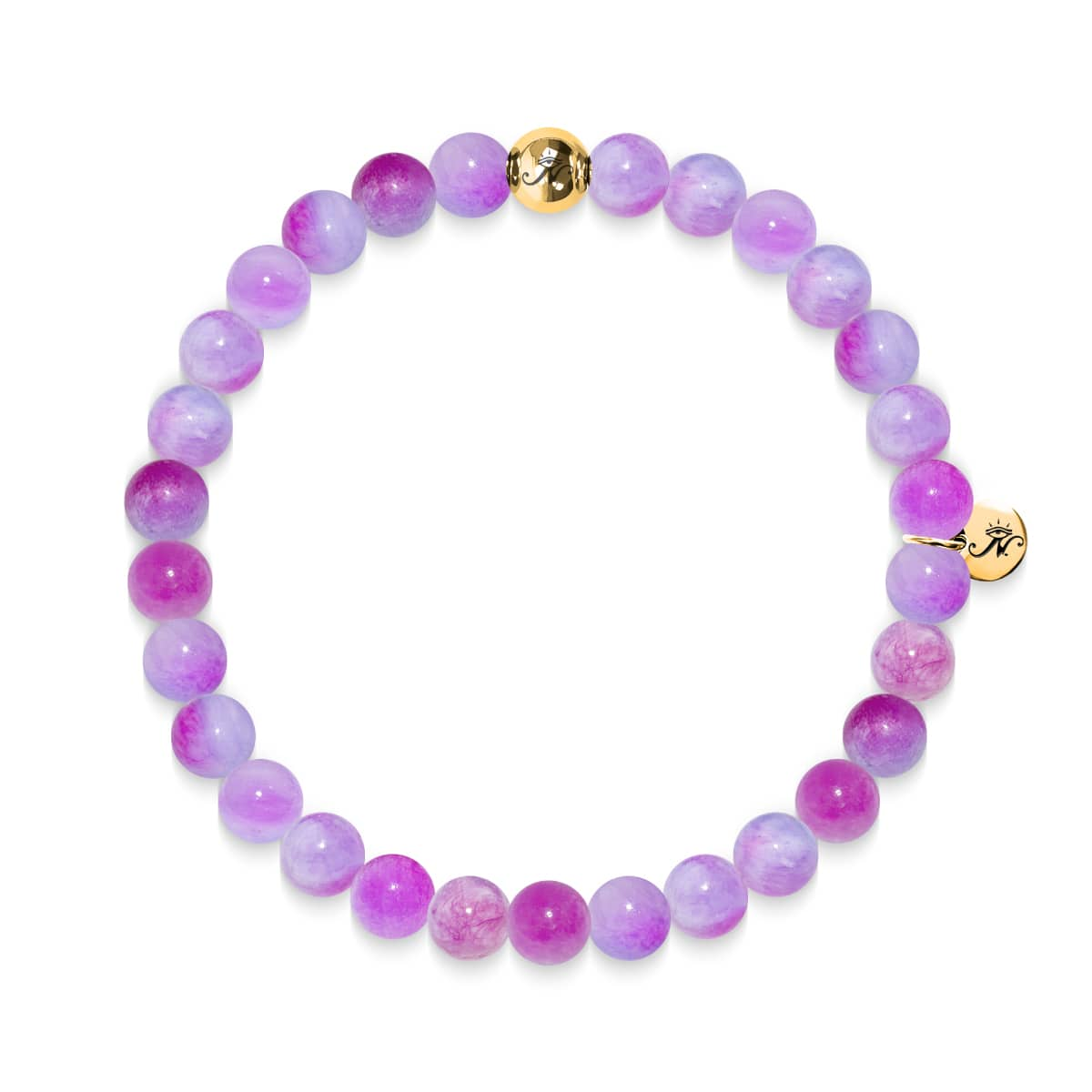 L'amour | Bracelet en jade multicolore Gold Essence