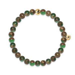 Calming | Gold Essence New Green Agate Bracelet