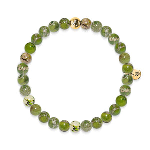 Dedication | Gold Essence Olivine Regalite Bracelet