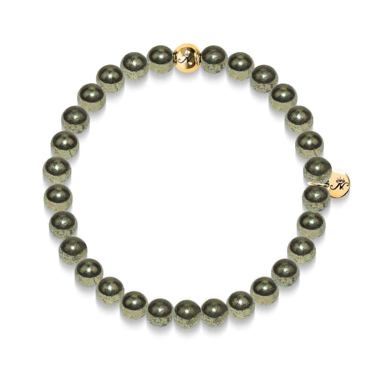 Richesse | Bracelet pyrite or essence