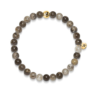 Will Power | Gold Essence Silver Leaf Jasper Bracelet