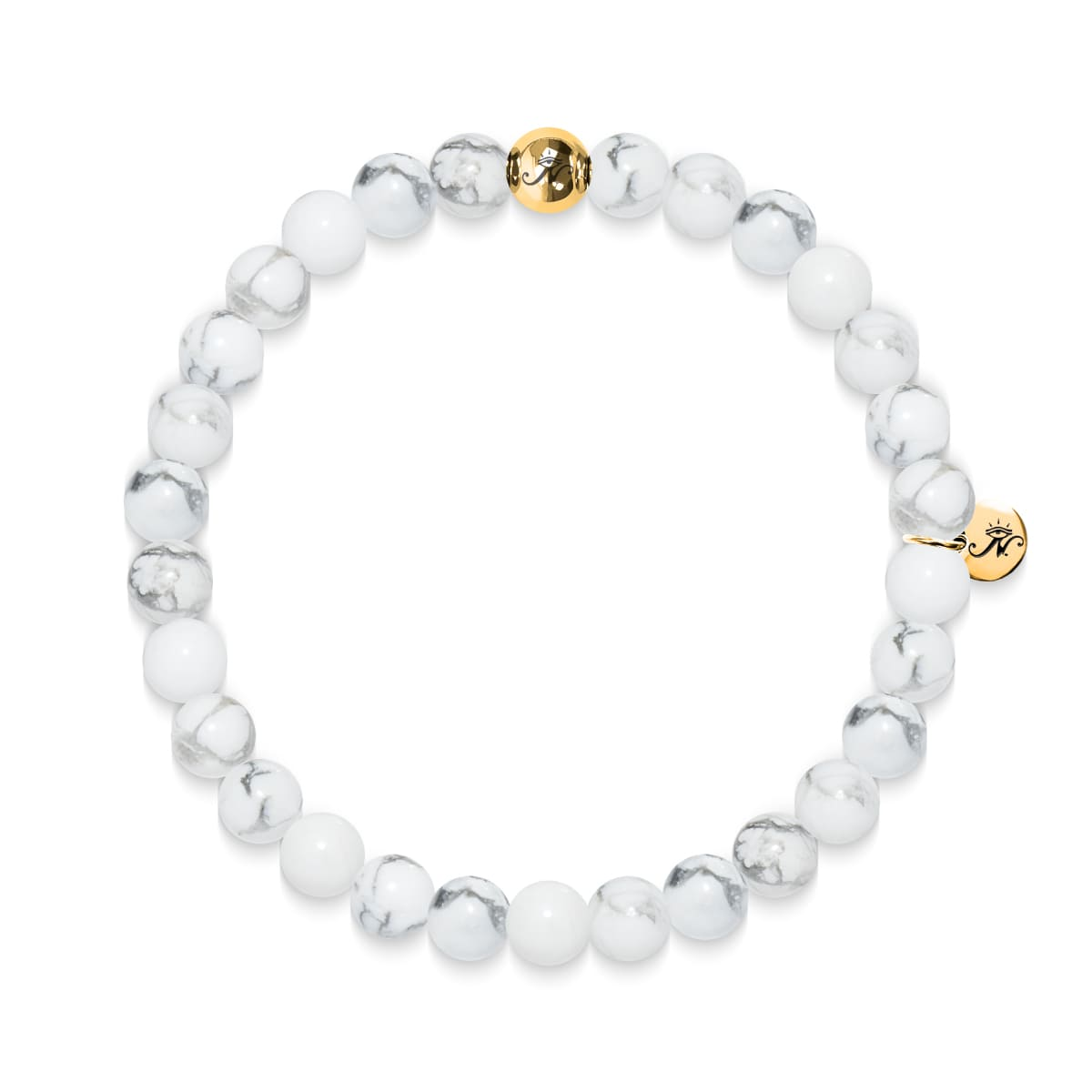 Exploration | Gold Essence White Turquoise Bracelet
