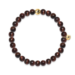 Noble | Bracelet oeil de tigre rouge Gold Essence