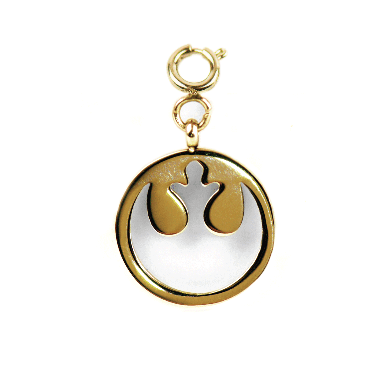 Alliance rebelle - Étiquette de charme de bracelet en or Star Wars