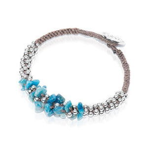 Blue Happy Crazy Agate Terra Bella Bracelet