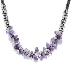 Purple Amethyst Stone Terra Bella Necklace