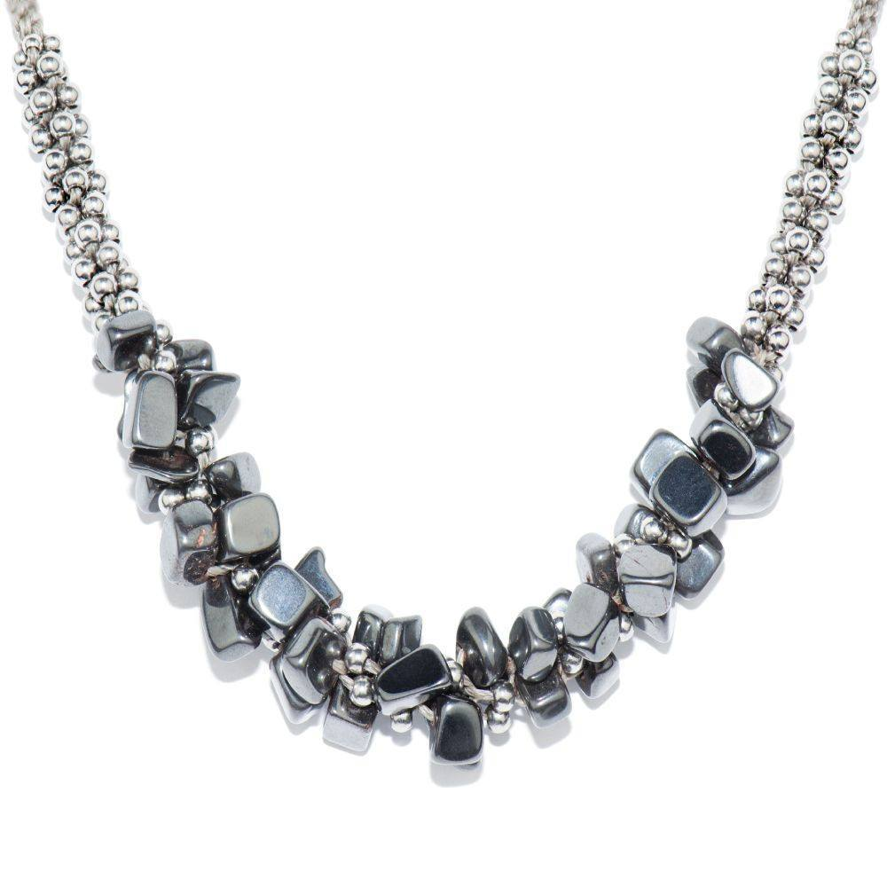 Hematite Gunmetal Stone Terra Bella Necklace