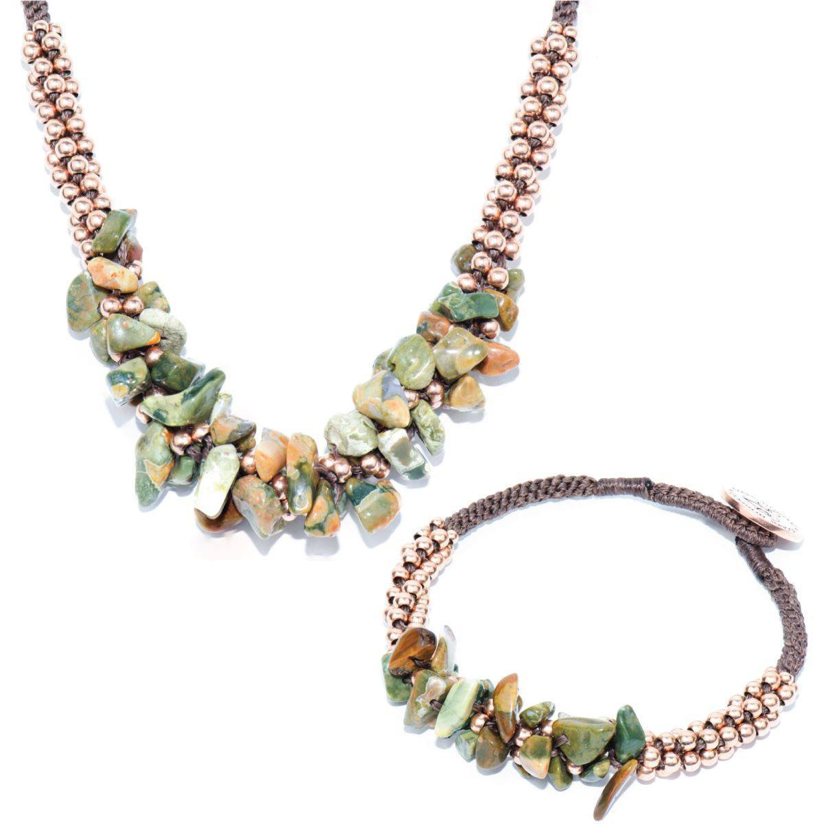 Woodland Agate Terra Bella Bracelet & Necklace Gift Set